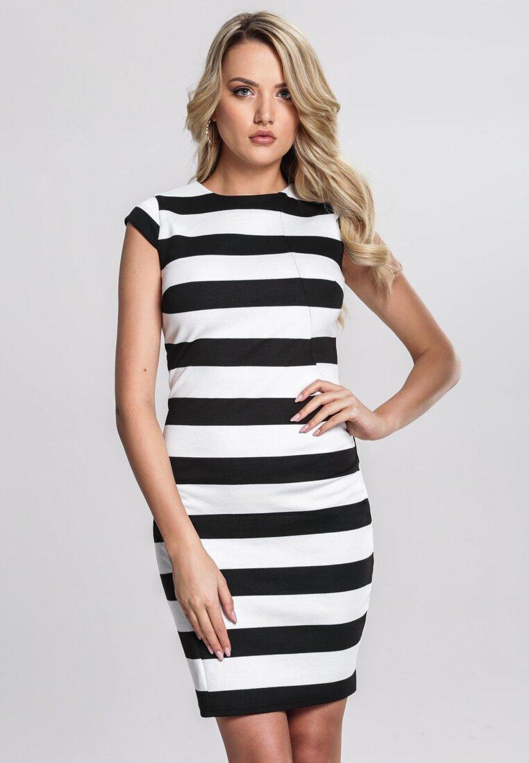 Biało-Czarna Sukienka Immaterial