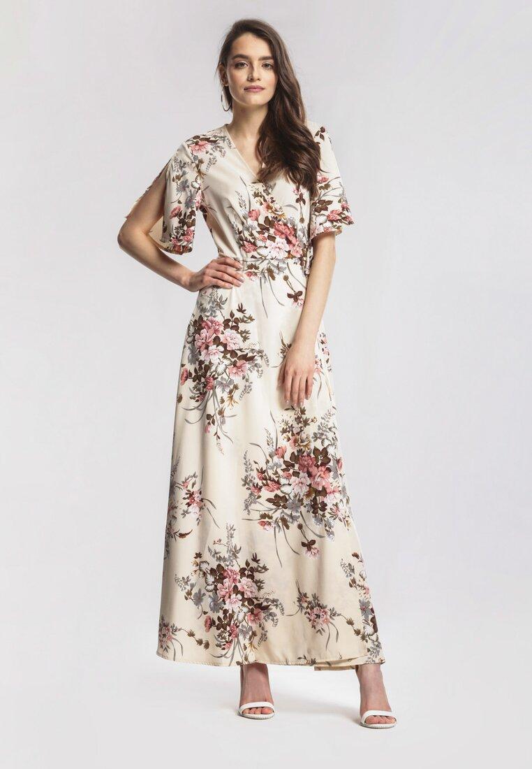 Beżowa Sukienka Adamant