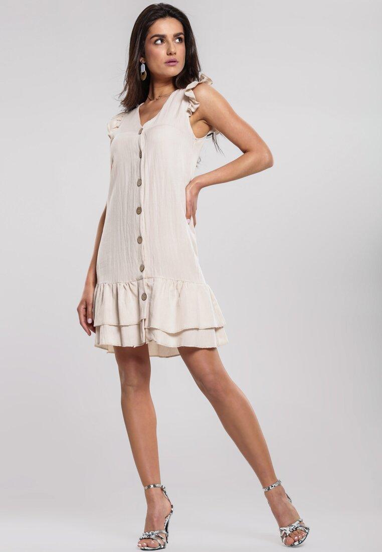 Obraz przedstawiający Beżowa Sukienka Modus