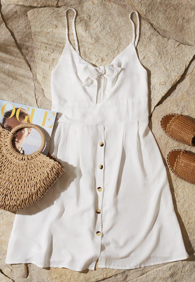 Biała Sukienka Undersel