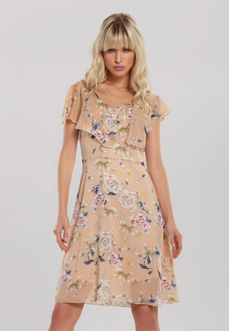 Beżowa Sukienka Conciliation