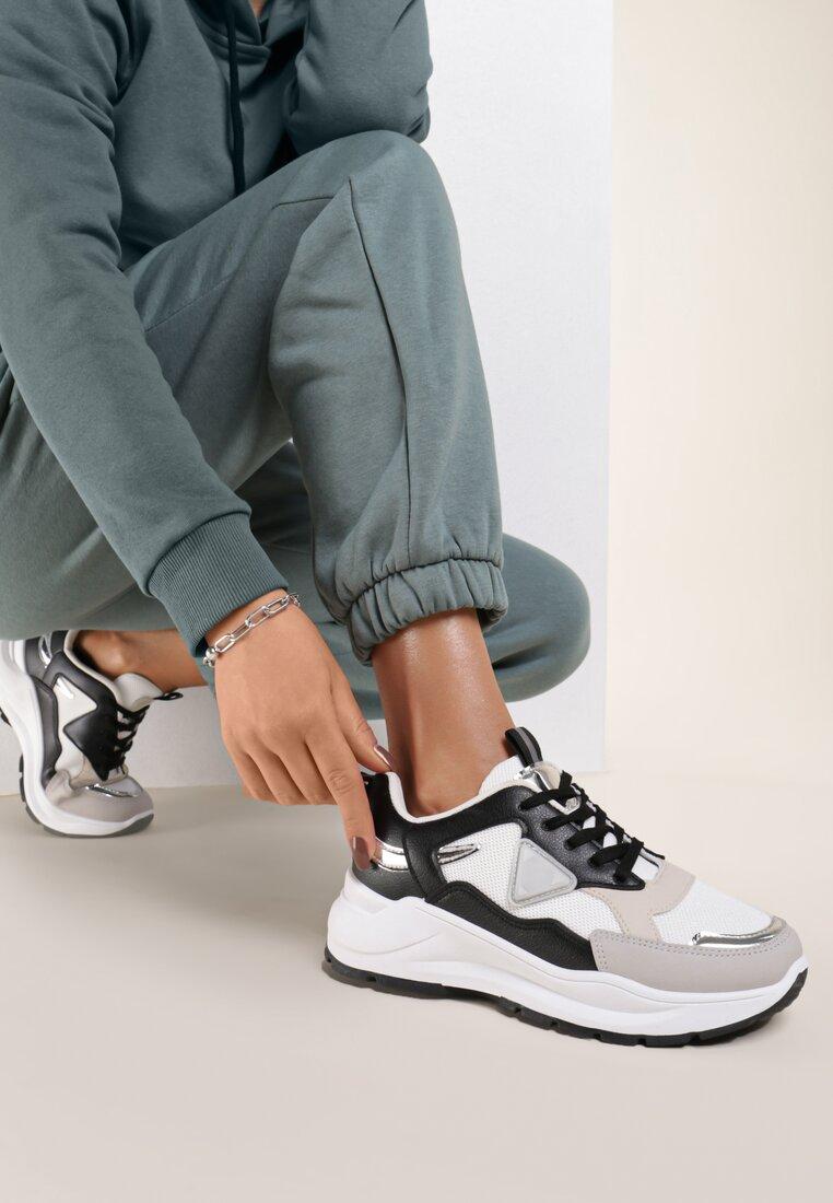 Beżowo-Czarne Sneakersy Aetherila
