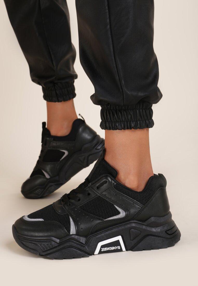 Czarne Sneakersy Amabilis