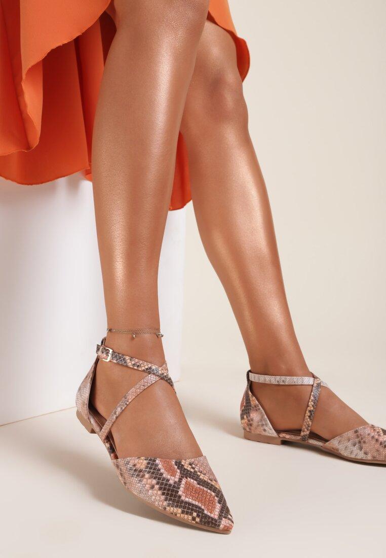 Pomarańczowe Sandały Laolacia