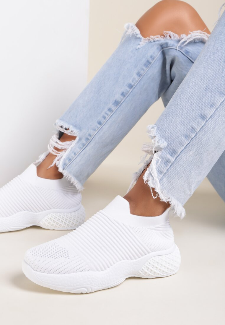 Białe Buty Sportowe Delolia