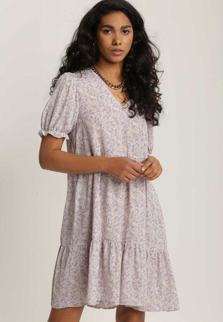 Liliowa Sukienka Narisura