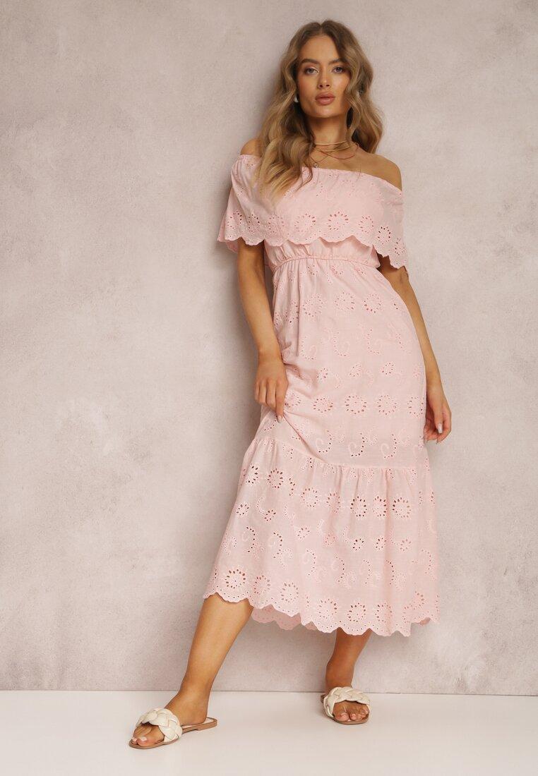 Jasnoróżowa Sukienka Menilophi