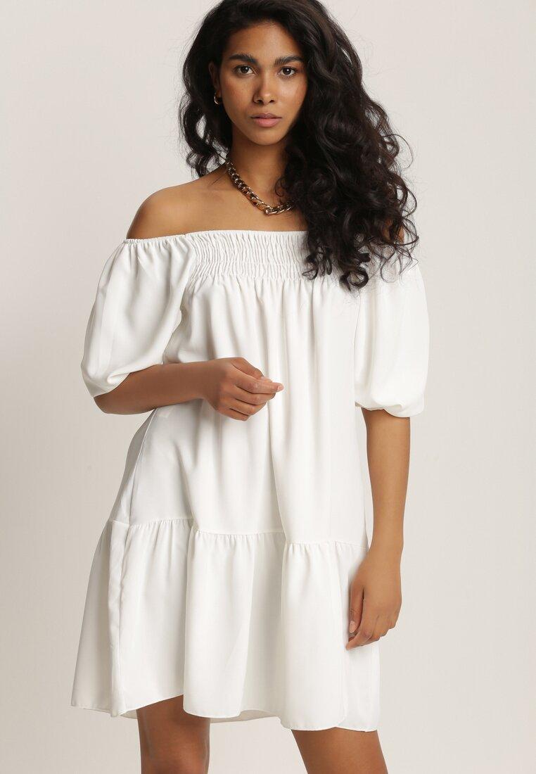 Biała Sukienka Lorailina