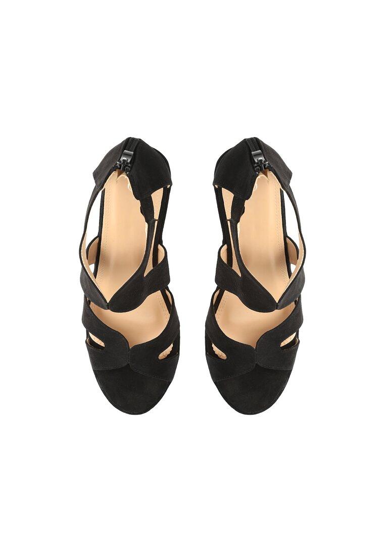 Czarne Sandały Affect