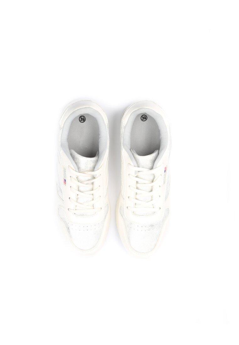 Srebrno-Białe Buty Sportowe Riella