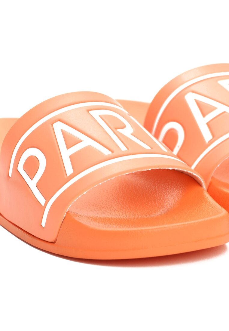 Pomarańczowe Klapki Paris Look