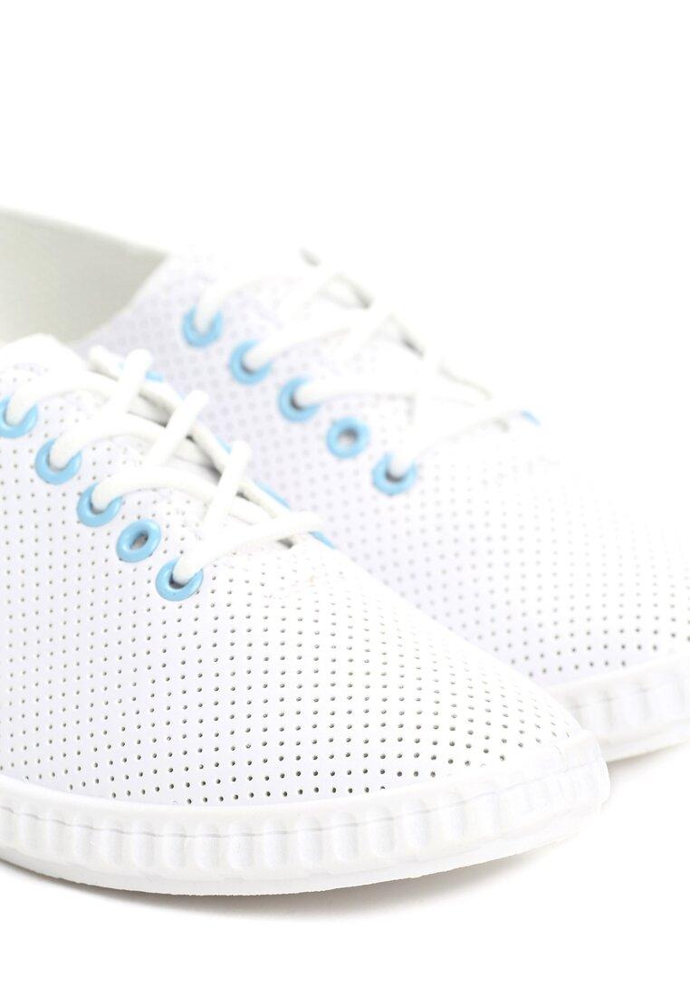 Białe Tenisówki Fibers