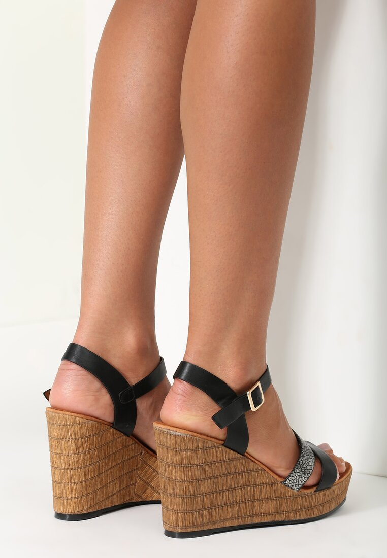 Czarne Sandały Stomper