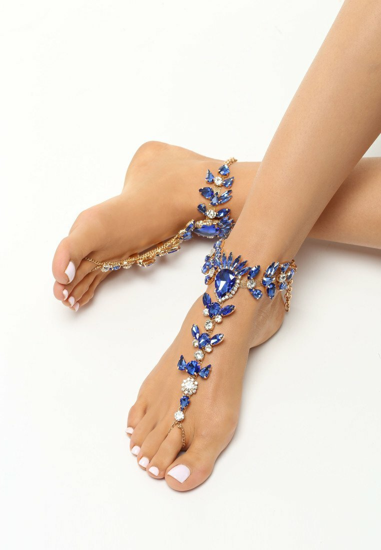 Granatowa Biżuteria na Stopy Daimonds