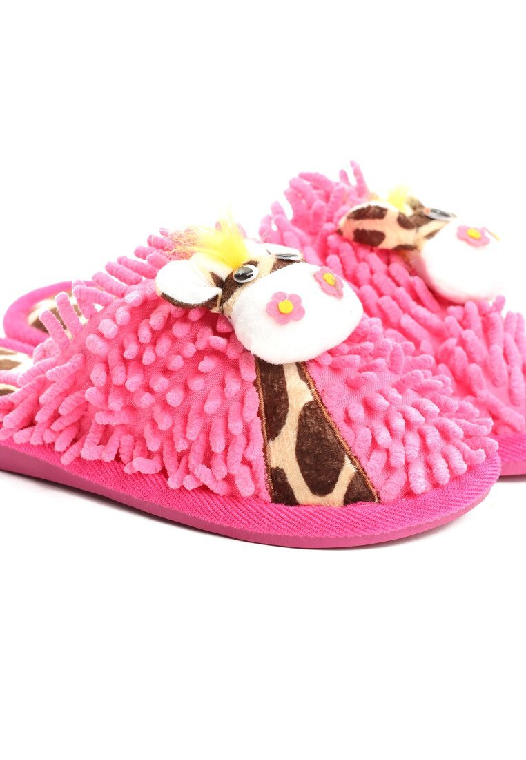 Różowe Kapcie Giraffe