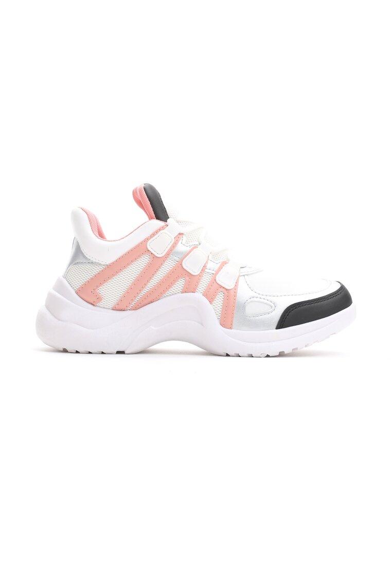 Biało-Różowe Buty Sportowe Take Notice