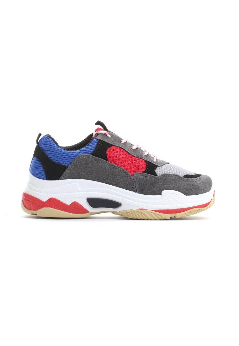 Szaro-Czerwone Sneakersy Too Young