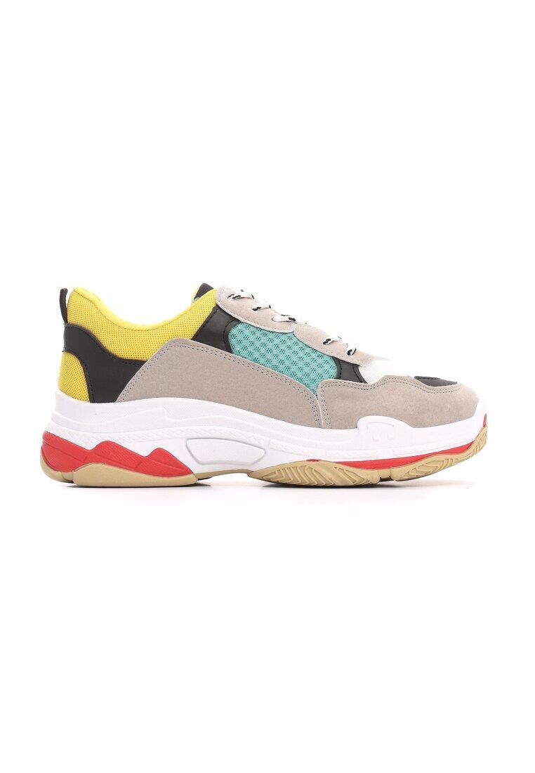 Szaro-Miętowe Sneakersy Wonderwall