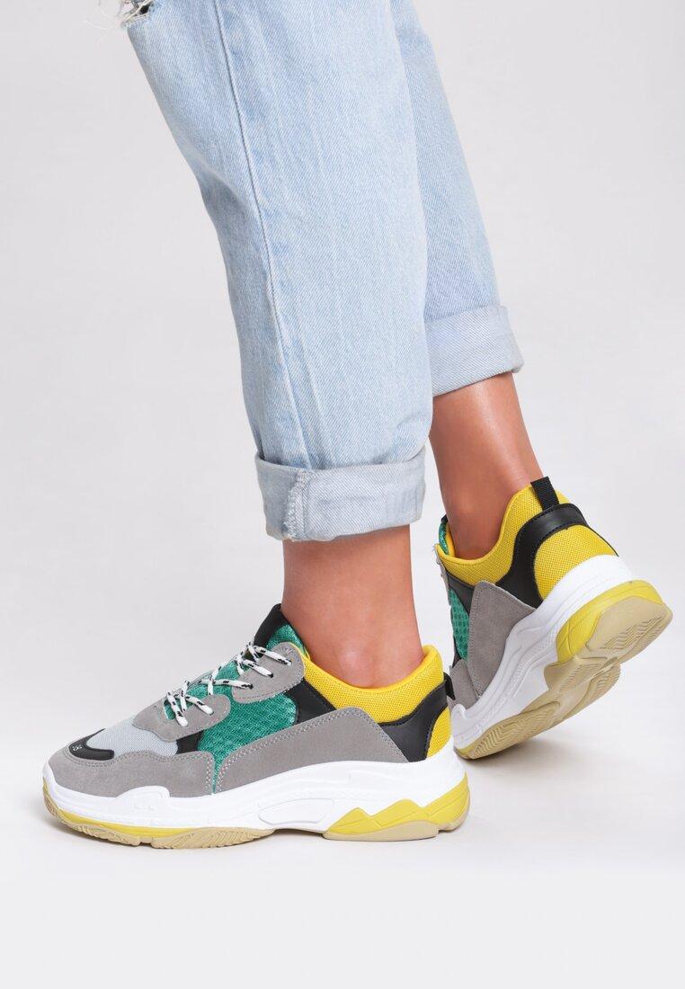 Szaro-Zielone Sneakersy Wonderwall