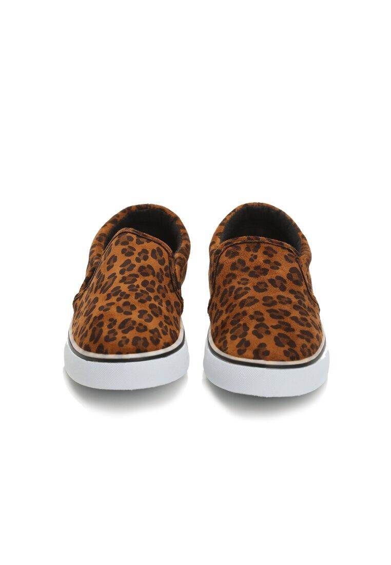 Brązowe Slip On Leopard