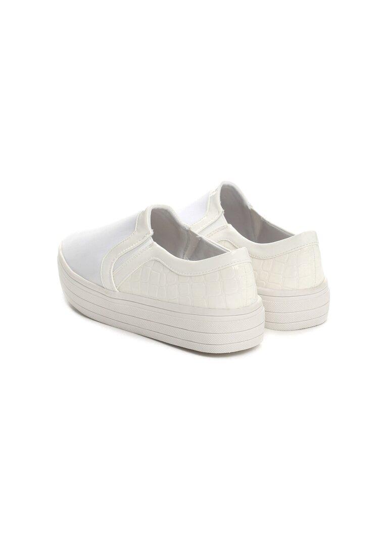 Białe Slip On Do You Think