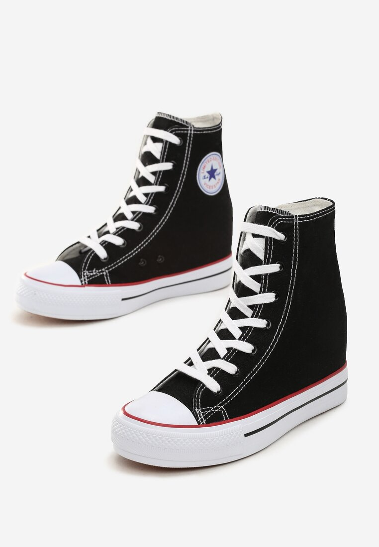 Czarne Sneakersy Siovok