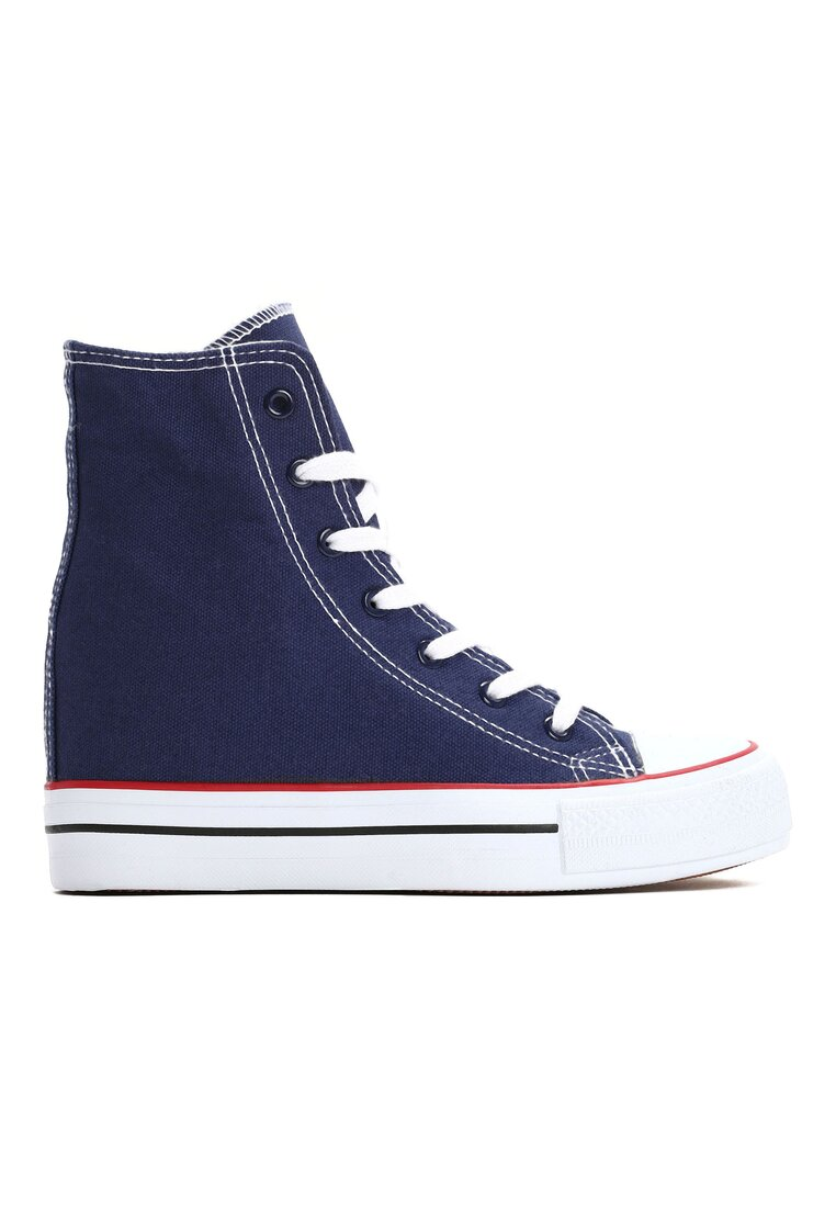 Granatowe Sneakersy Bjorn