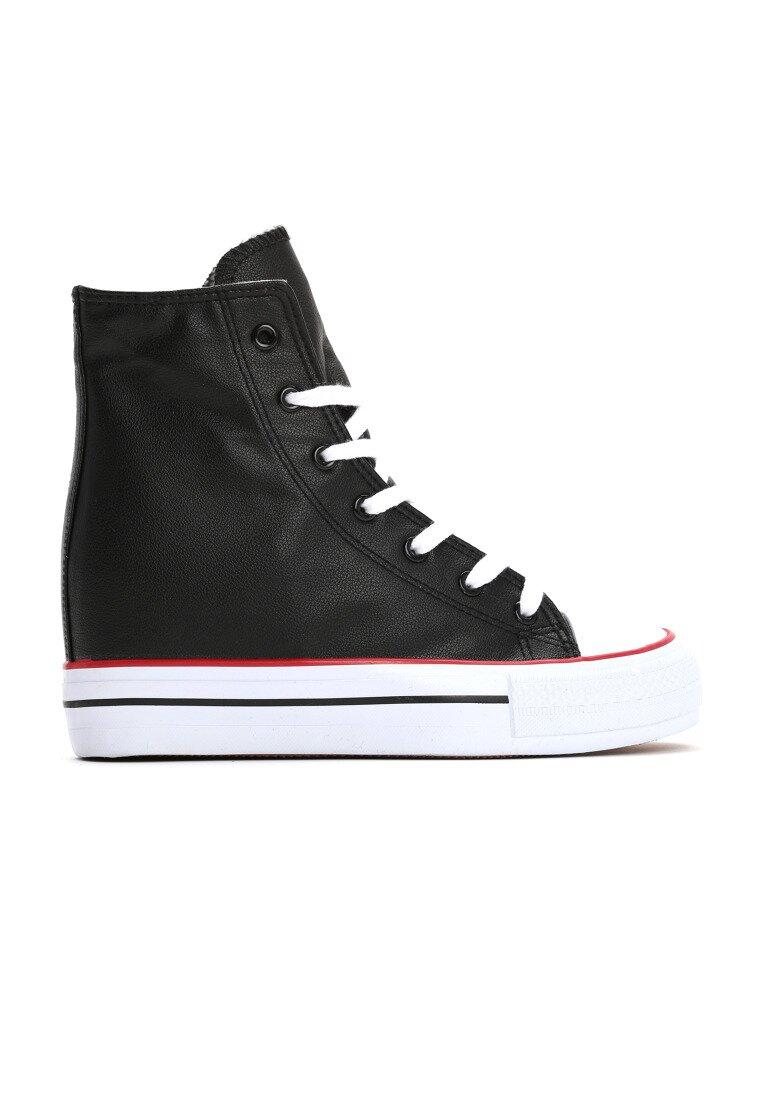 Czarne Sneakersy Yvonne