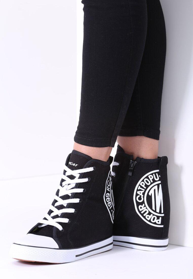 Czarne Sneakersy Mango Girl