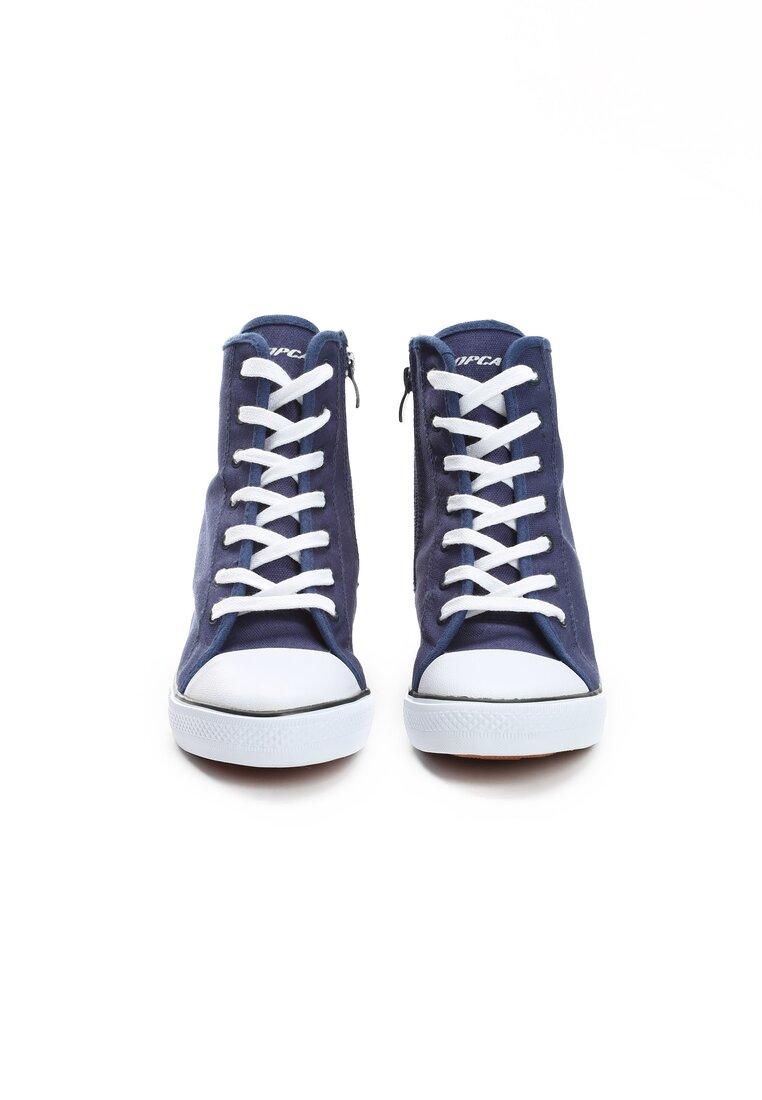 Granatowe Sneakersy Mango Girl