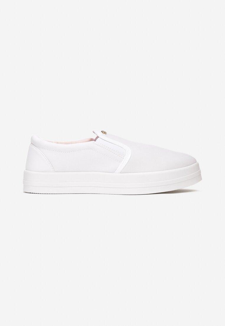 Białe Slip On Alba
