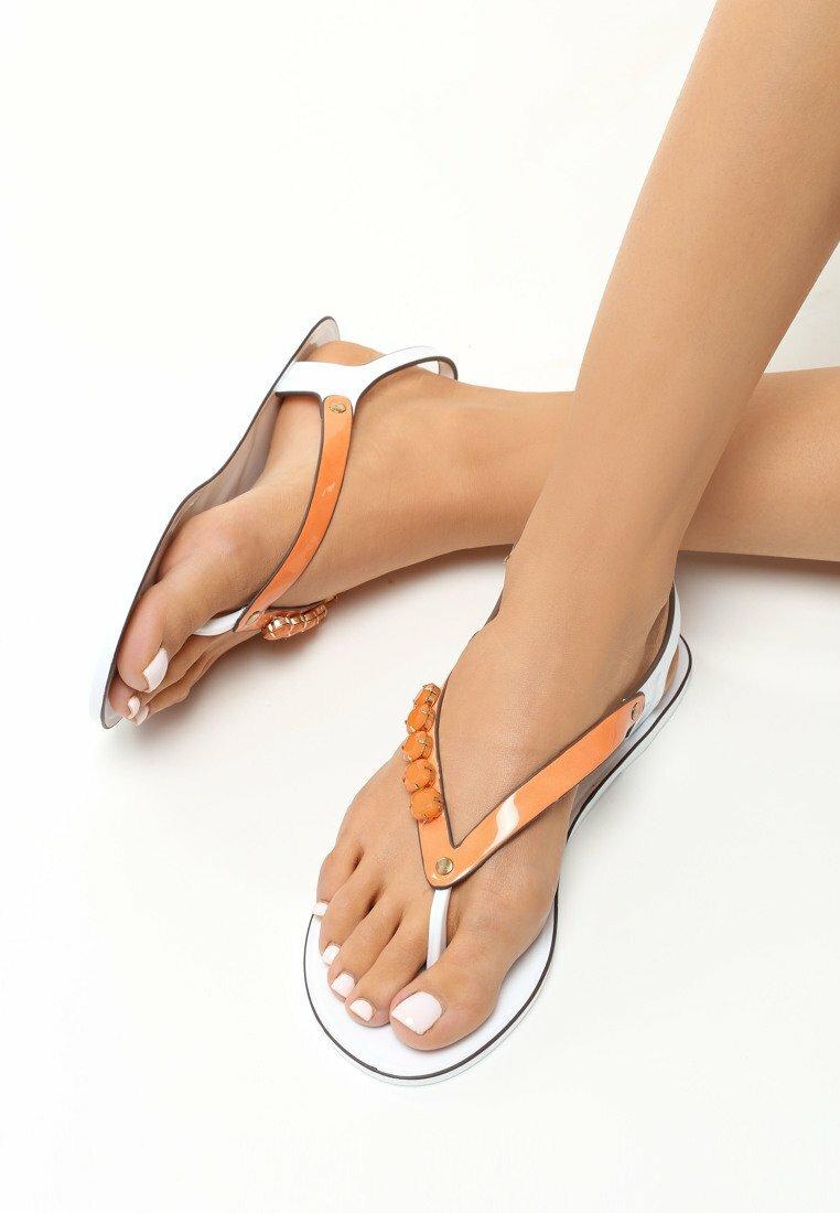 Pomarańczowe Sandały Trishi