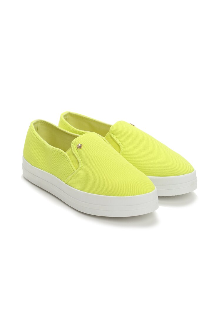 Żółte Slip On Eva