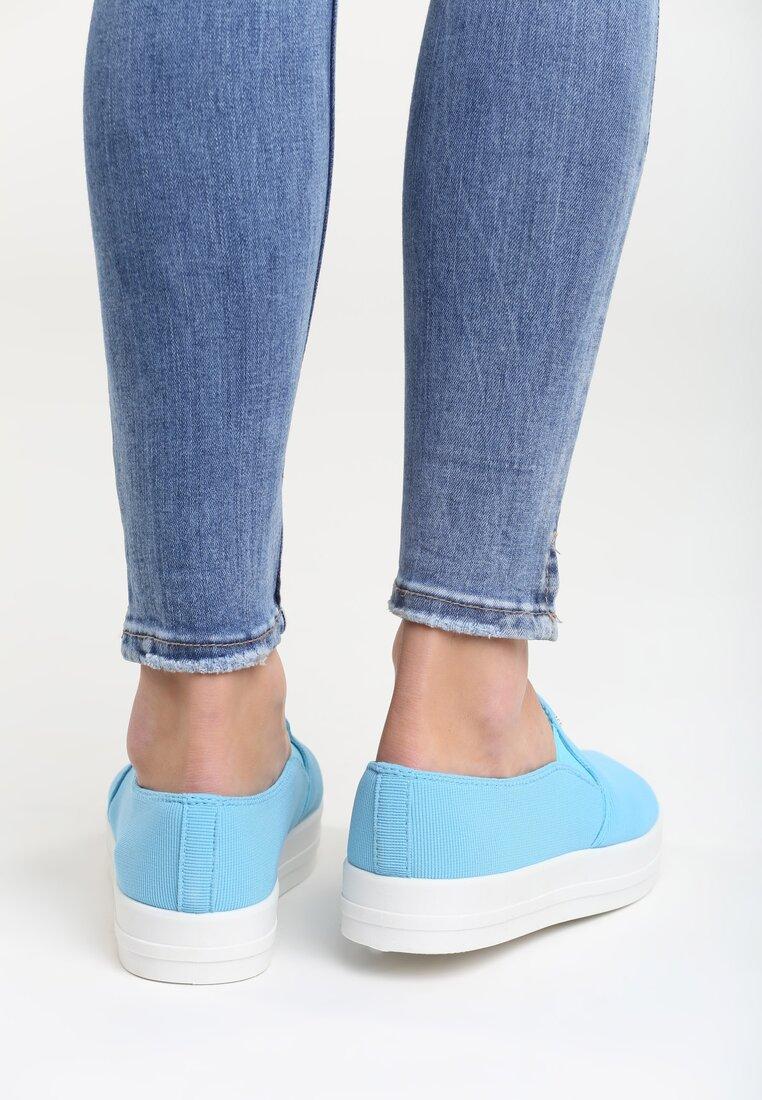 Niebieskie Slip On Eva