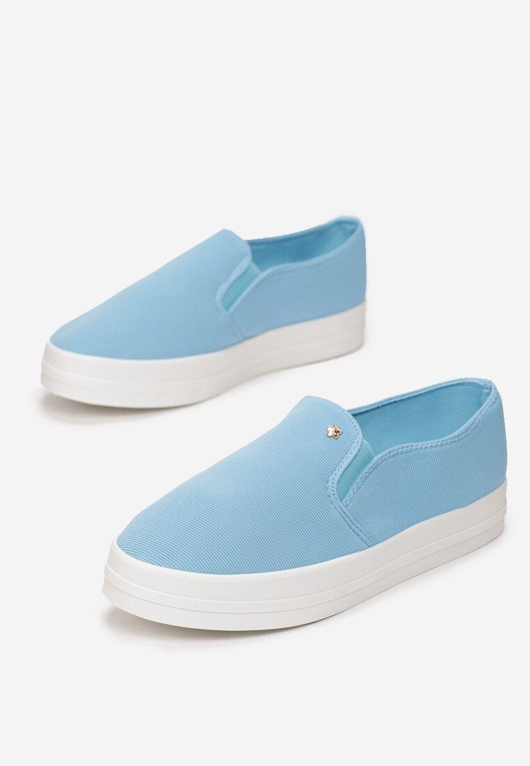 Niebieskie Slip On Strawberry