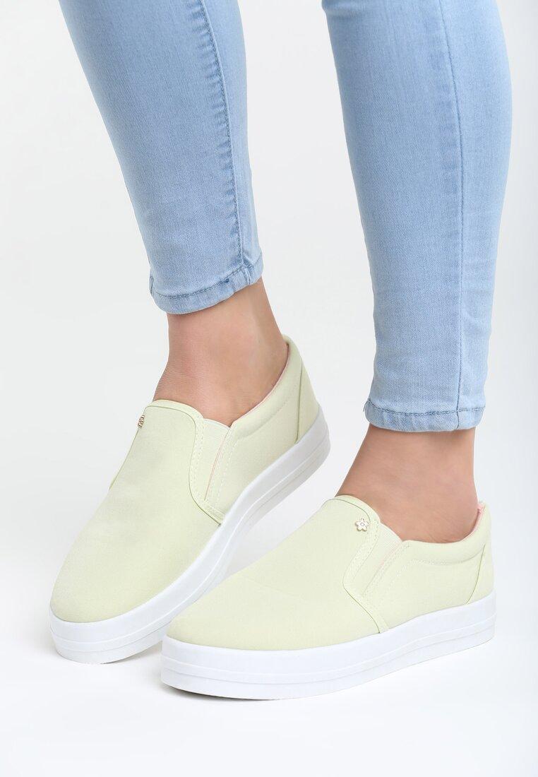 Zielone Slip On Alba
