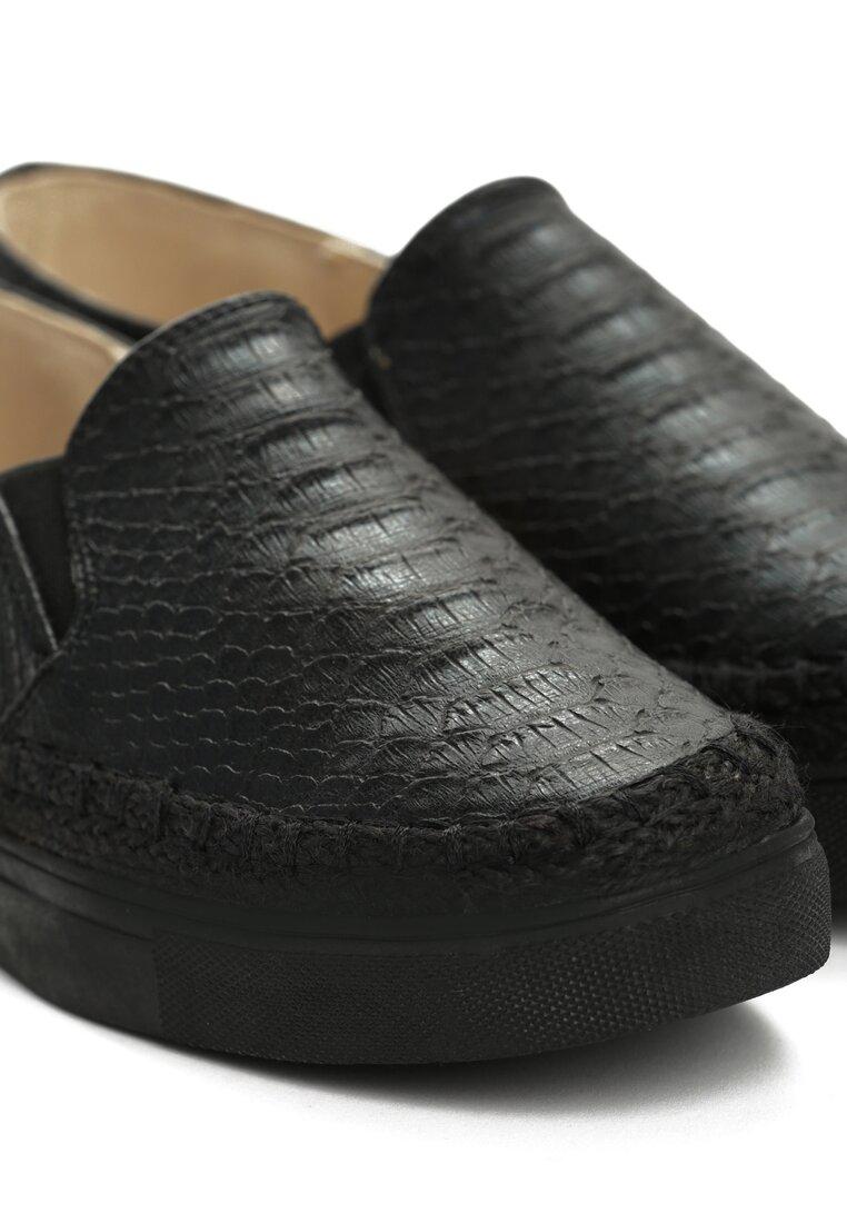 Czarne Slip On Drako