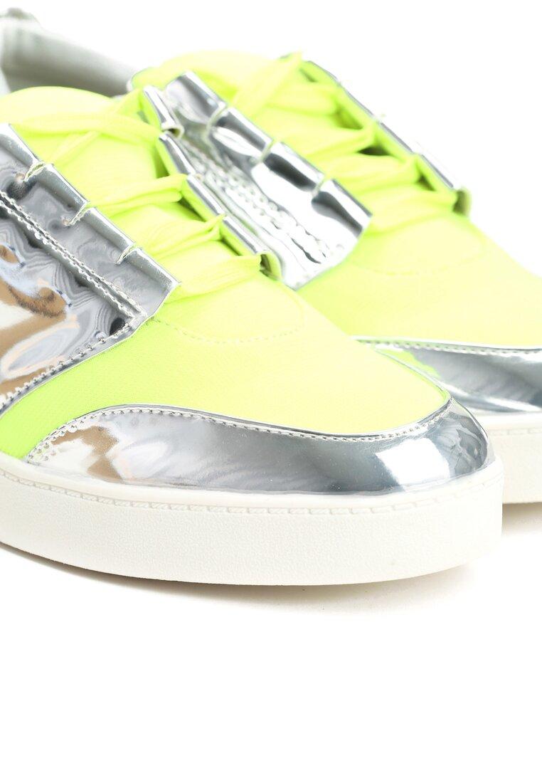 Limonkowe Buty Sportowe Romance