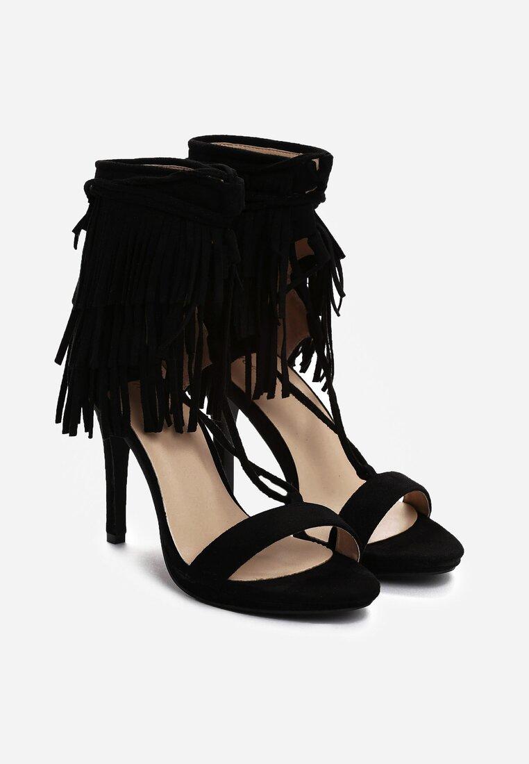 Czarne Sandały Wild Nair