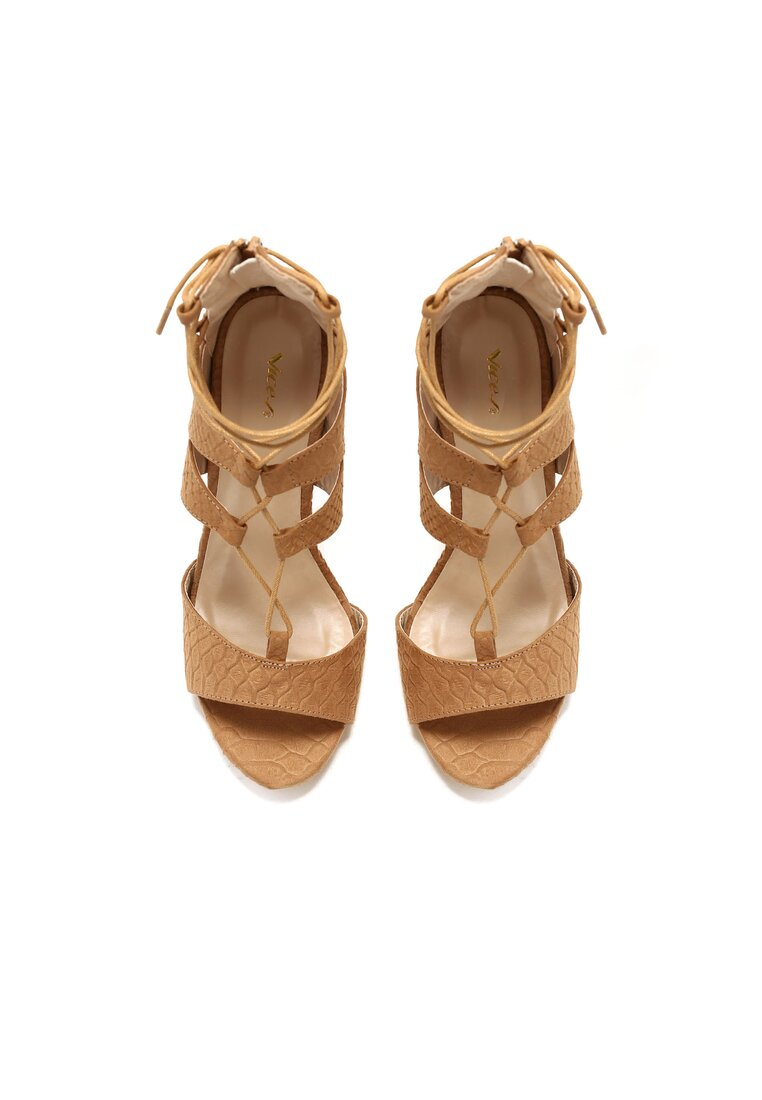 Beżowe Sandały Rome