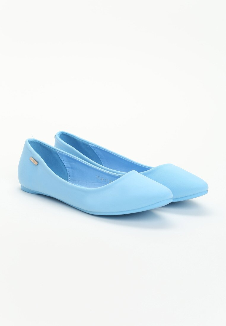 Niebieskie Balerinki Carmen