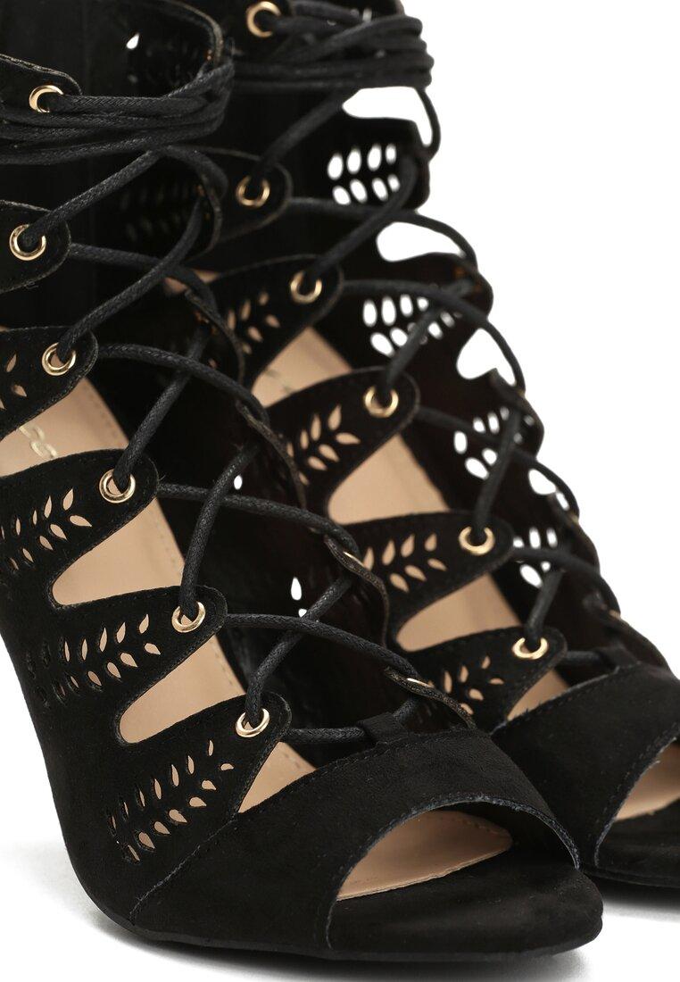 Czarne Sandały Miguela