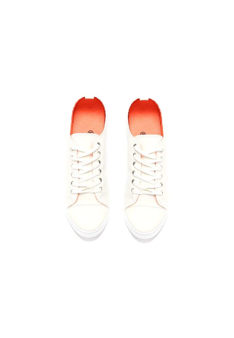 Białe Trampki Red Light