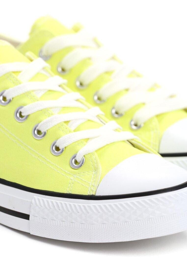 Żółte Neonowe Trampki Leo
