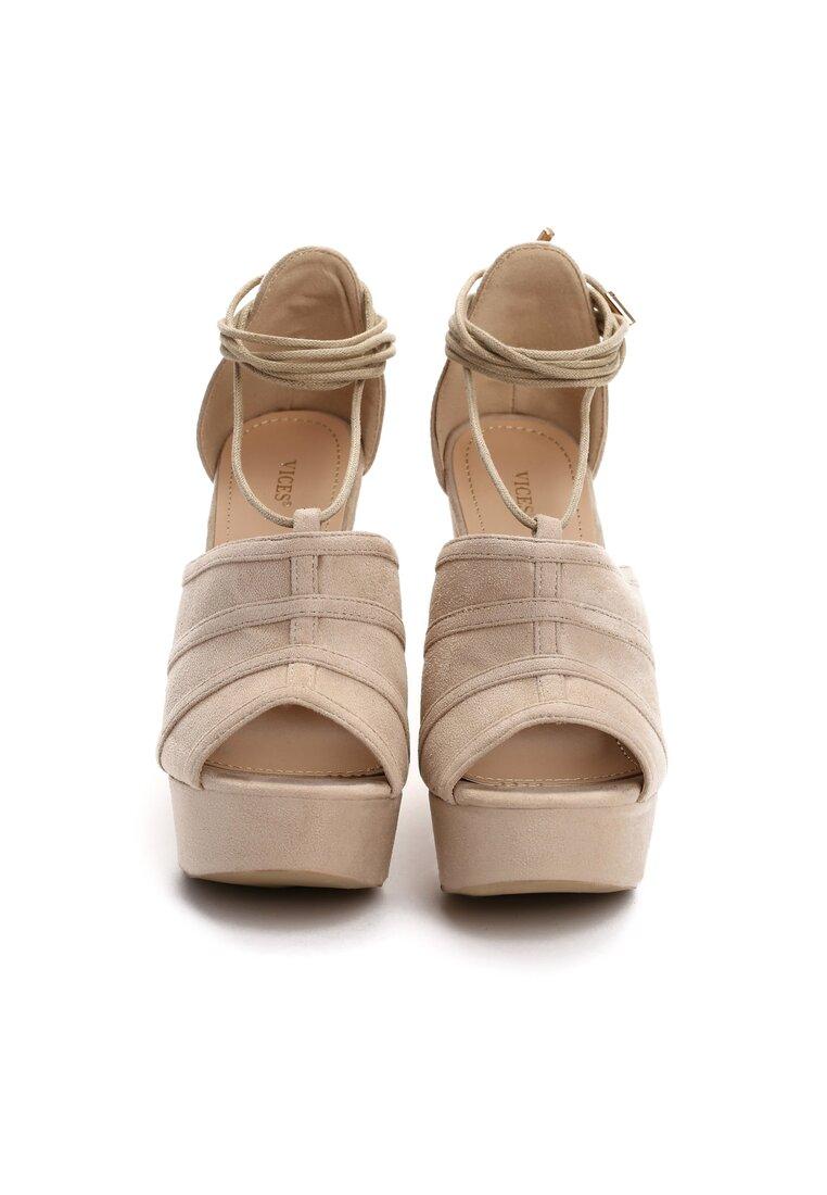 Beżowe Sandały Remember Walls