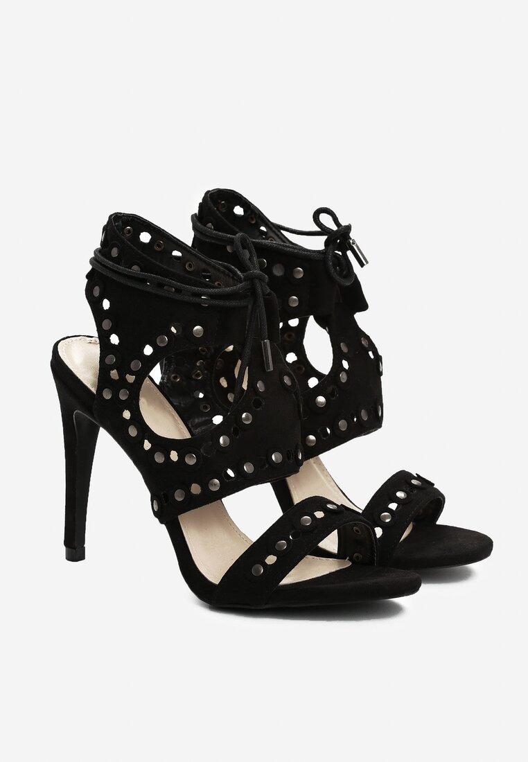 Czarne Sandały Aster
