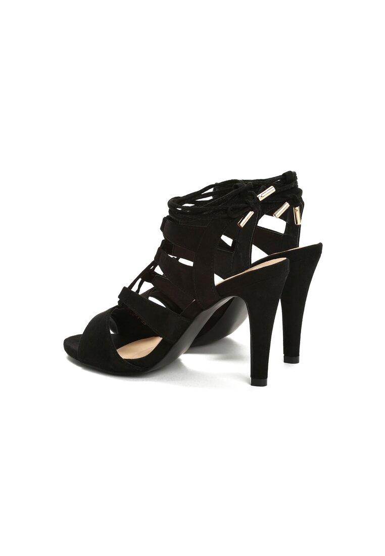 Czarne Sandały Ardino