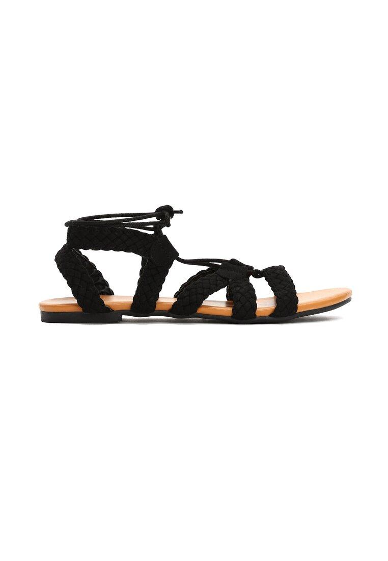 Czarne Sandały Rhian