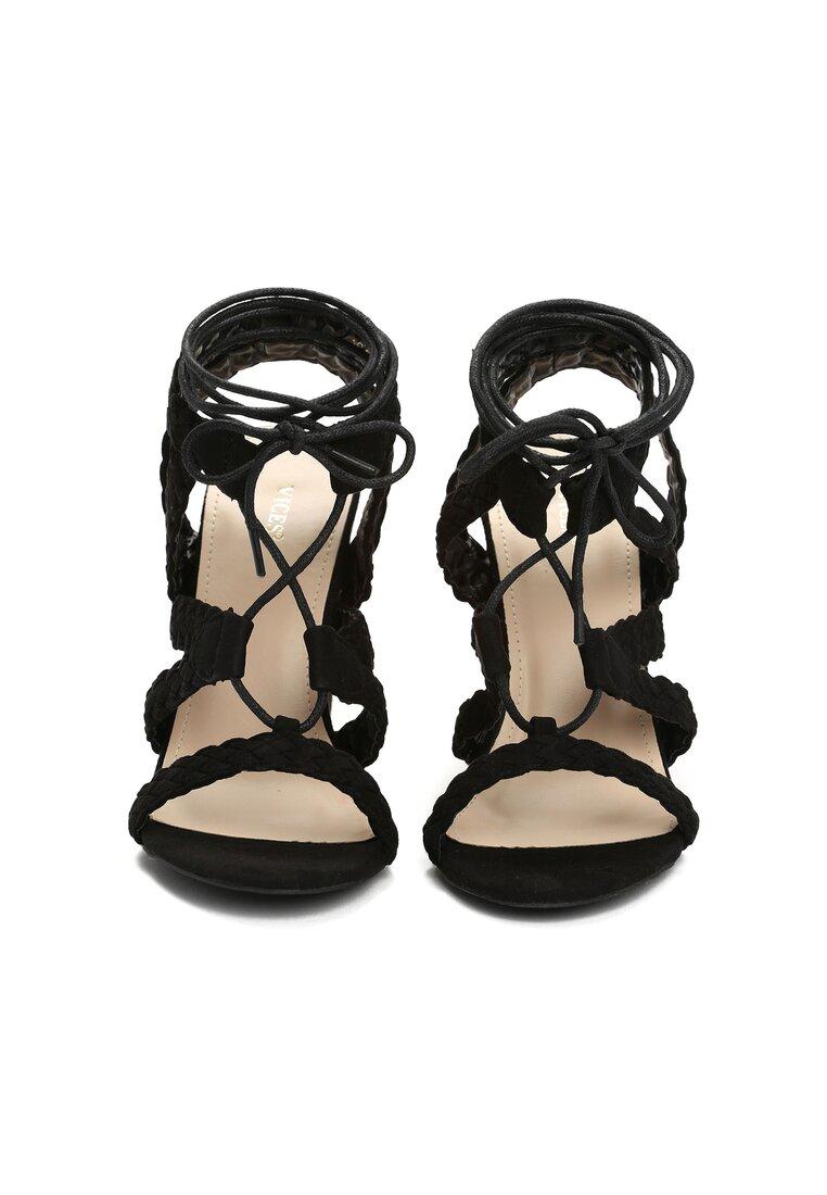 Czarne Sandały Anastasis