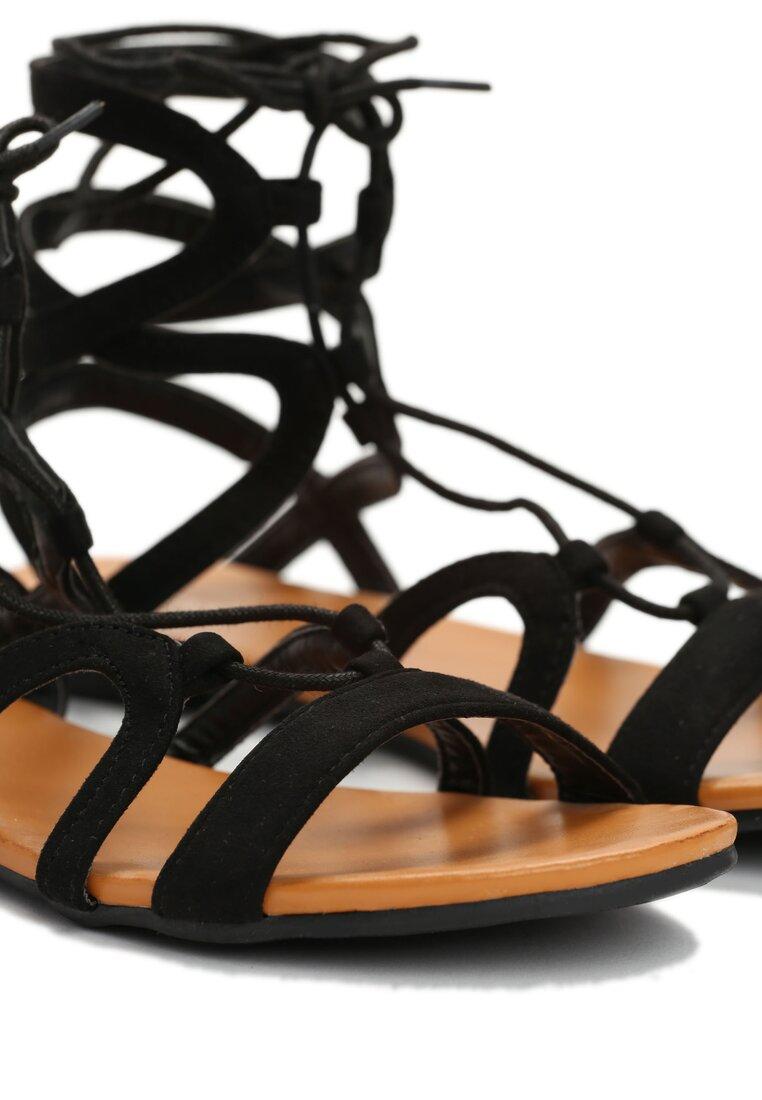 Czarne Sandały Rolanda